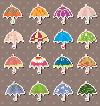 umbrella stickers Vector