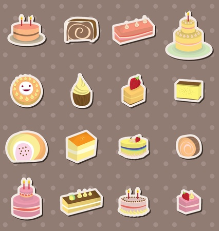 cake stickers Vector