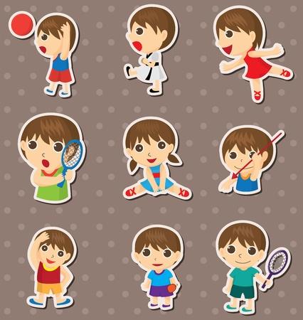 student sport stickers  Illustration