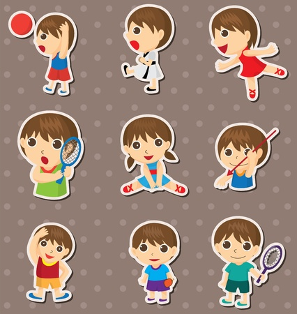 student sport stickers  Stock Vector - 13397485