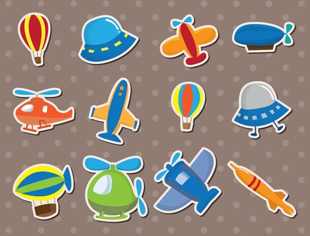airplane stickers Vector