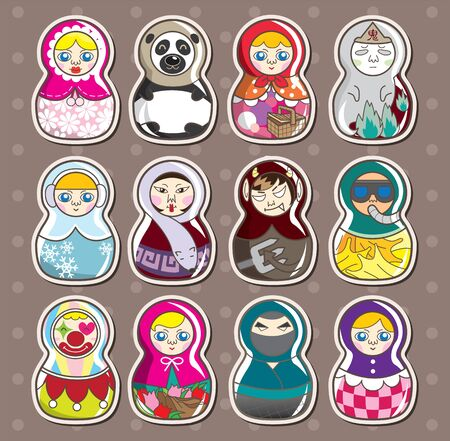 cartoon Russian stickers Stock Vector - 13397685