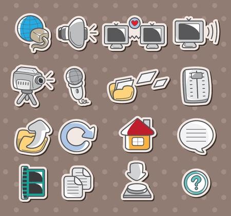 web icon stickers Stock Vector - 13397673