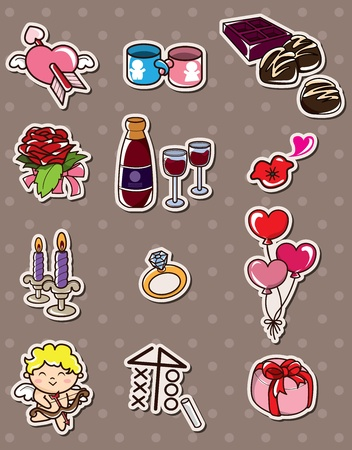 Valentine's Day stickers Stock Vector - 13397683