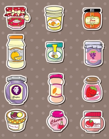 jam stickers Vector