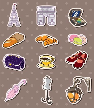 paris element stickers Vector