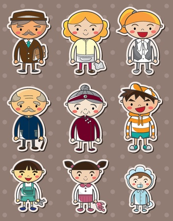 family stickers Stock Vector - 13397684
