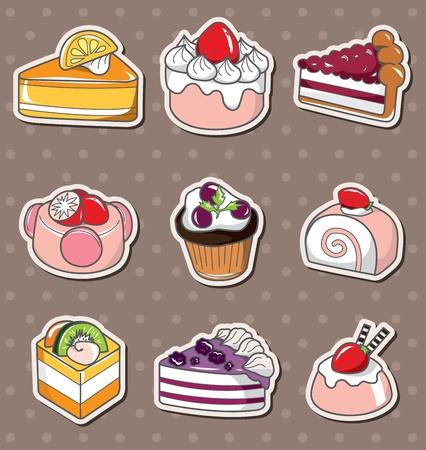 cup cakes: pegatinas para pasteles