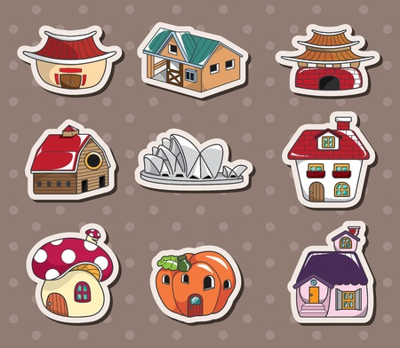 residential neighborhood: house stickers