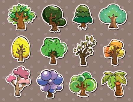 green leafs: tree stickers  Illustration