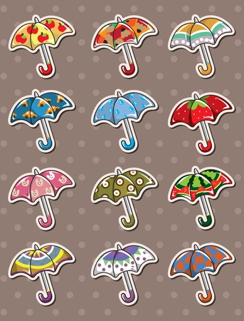 umbrella stickers  Vector