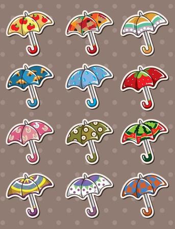 umbrella stickers Stock Vector - 13397727