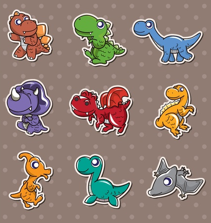 dinosaur stickers Stock Vector - 13397748