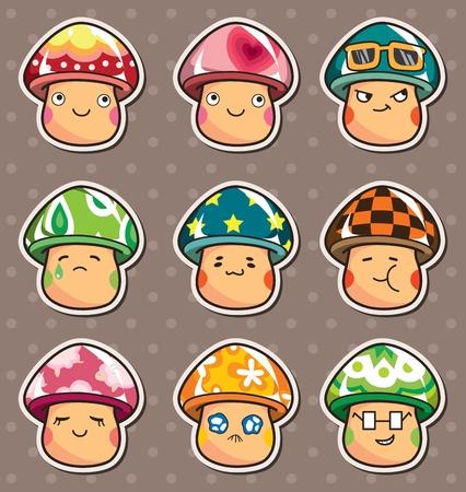 mushroom stickers  Vector