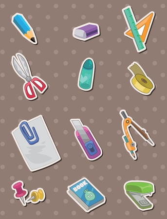 fun at work: stationery stickers Illustration