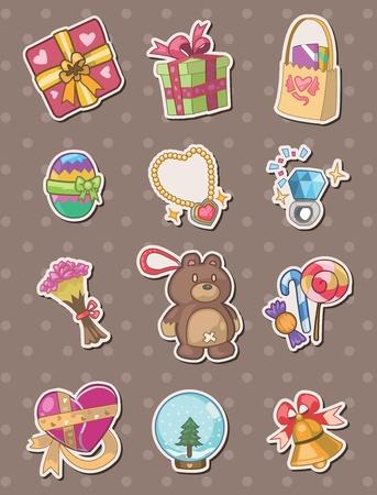 jewelry box: gift stickers