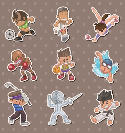 sport players stickers Vector