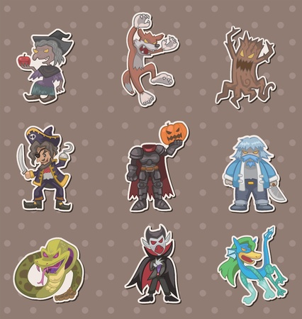 story villain stickers Vector