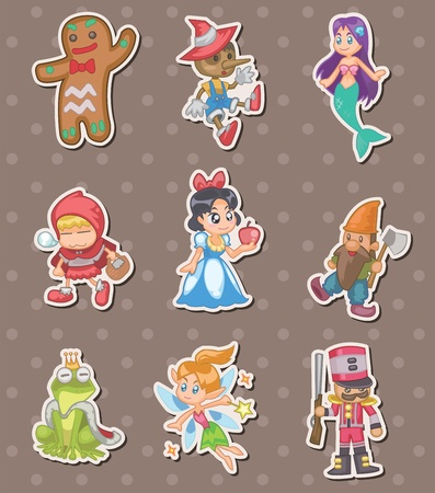 dwarfs: story people stickers Illustration