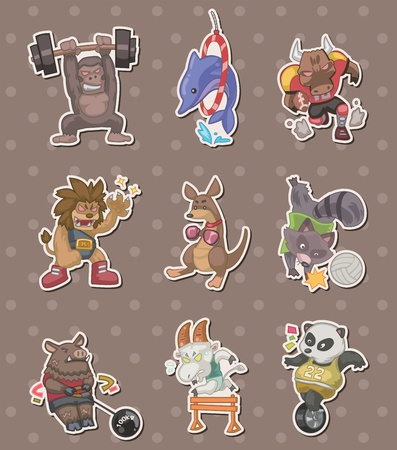 civet cat: animal sport player stickers