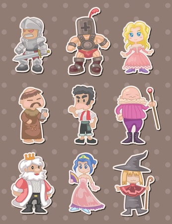 wench: cartoon medieval people stickers