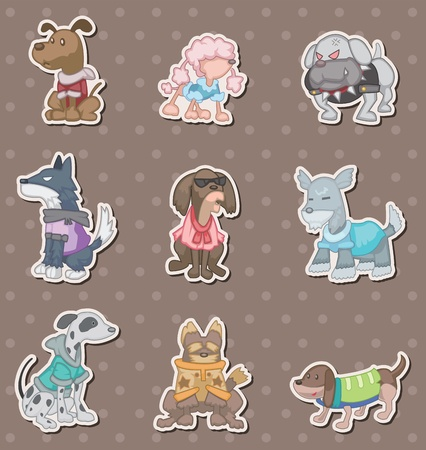 dog pet stickers Stock Vector - 13397756