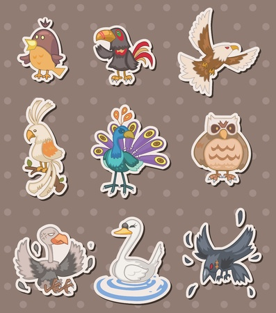 gracious: bird stickers Illustration