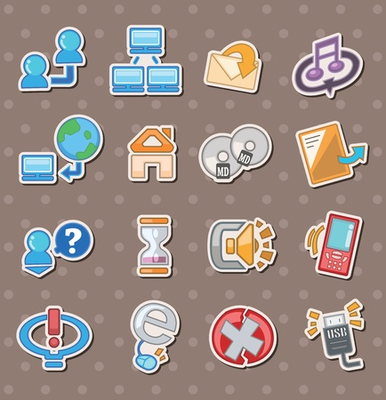 web stickers Vector