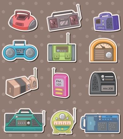 radio stickers  Vector
