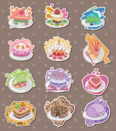 cake stickers 矢量图像