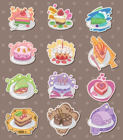 cake stickers Stock Vector - 13397846
