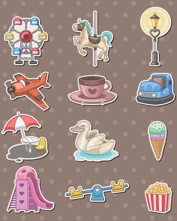 playground stickers Stock Vector - 13397847