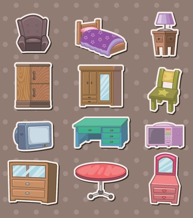 furniture stickers Stock Vector - 13397800