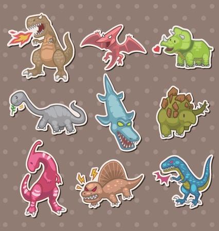 dinosauro: dinosauri adesivi