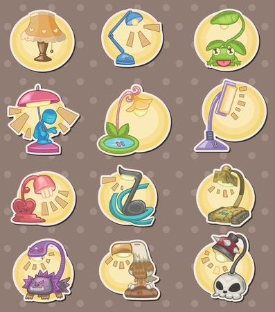 cartoon Lamps stickers Vector