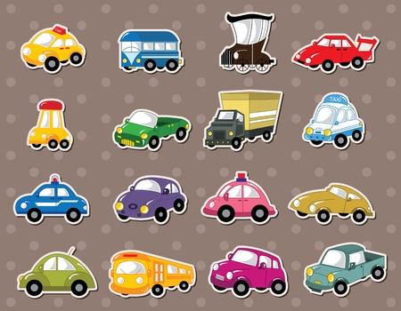 autom�vil caricatura: pegatinas de coches