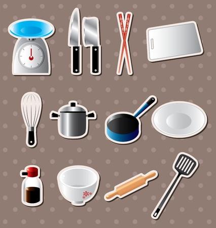 kitchen stickers Vector
