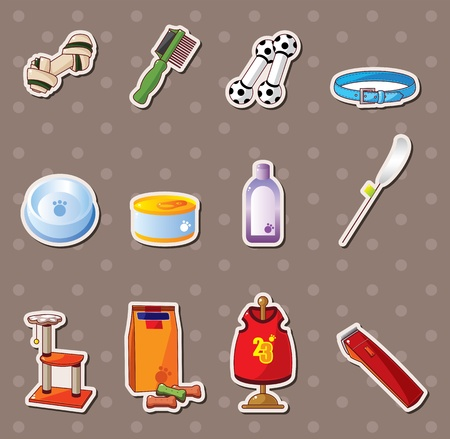 pet tool stickers Stock Vector - 13477994