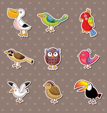 toucan: bird stickers Illustration