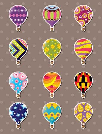cartoon hot air balloon stickers Stock Vector - 13478041