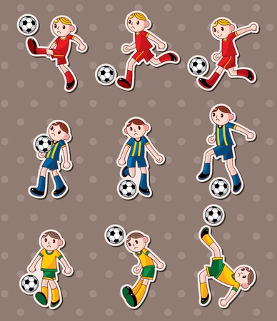 soccer stickers Stock Vector - 13478038
