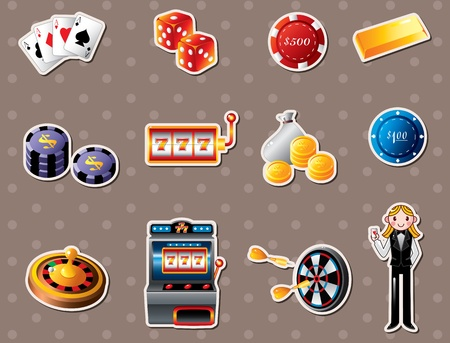 casino stickers Stock Vector - 13478040