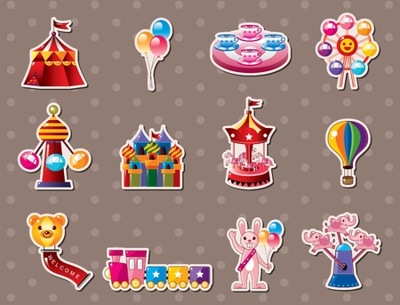 cartoon Playground stickers Vector