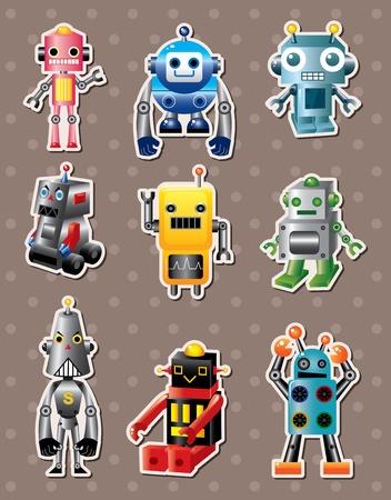 robot caricatura: sticers de dibujos animados de robots