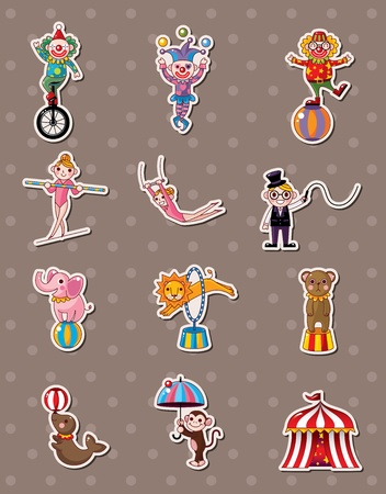circus stickers Stock Vector - 13478044