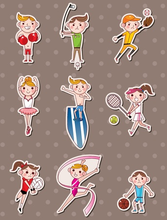 sport player stickers Vector
