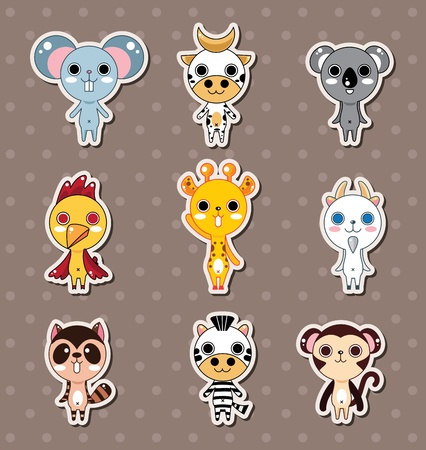 critters: animal stickers