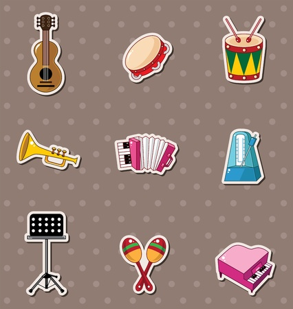 musical instruments: music stickers