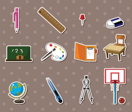 school stickers Vector