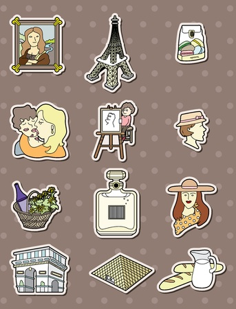 paris stickers Vector